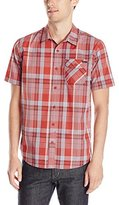 O'Neill Men's Emporium Plaid Short Sleeve Woven Shirt