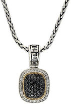 Effy Black Diamond, Sterling Silver and 18K Yellow Gold Necklace