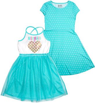 Aeropostale p.s. from Girls' Casual Dresses AQUA - Aquamarine Sleeveless Dress & Cap-Sleeve Dress - Girls