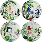 Gien Set of 4 Jardins Canape Plates - White