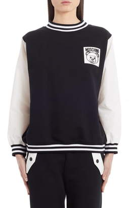 Moschino Teddy Label Cotton Sweatshirt