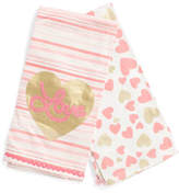 Made In India 2pk Love Hearts Kitchen Towels