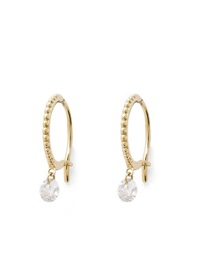 Raphaele Canot Set Free Beaded Hoop Earrings - Yellow Gold