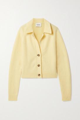 Nanushka Cade Wool-blend Cardigan - Pastel yellow