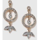 Dorothy Perkins Womens Ring And Rhinestone Earrings- Clear
