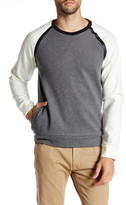 Kenneth Cole New York Long Sleeve Felted Crewneck Sweater