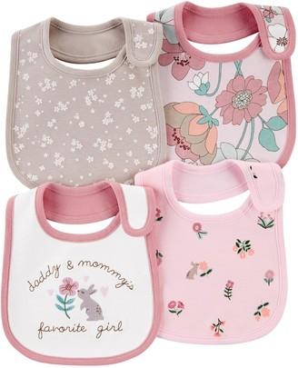 Carter's Baby Girl 4-Pack Floral Teething Bibs