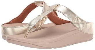 FitFlop Mina Toe-Thong (Platino) Women's Shoes