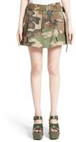 Marc Jacobs Women's Camo Print Cargo Miniskirt