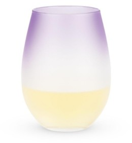 Blush Lingerie Frosted Ombre Stemless Wine Glasses