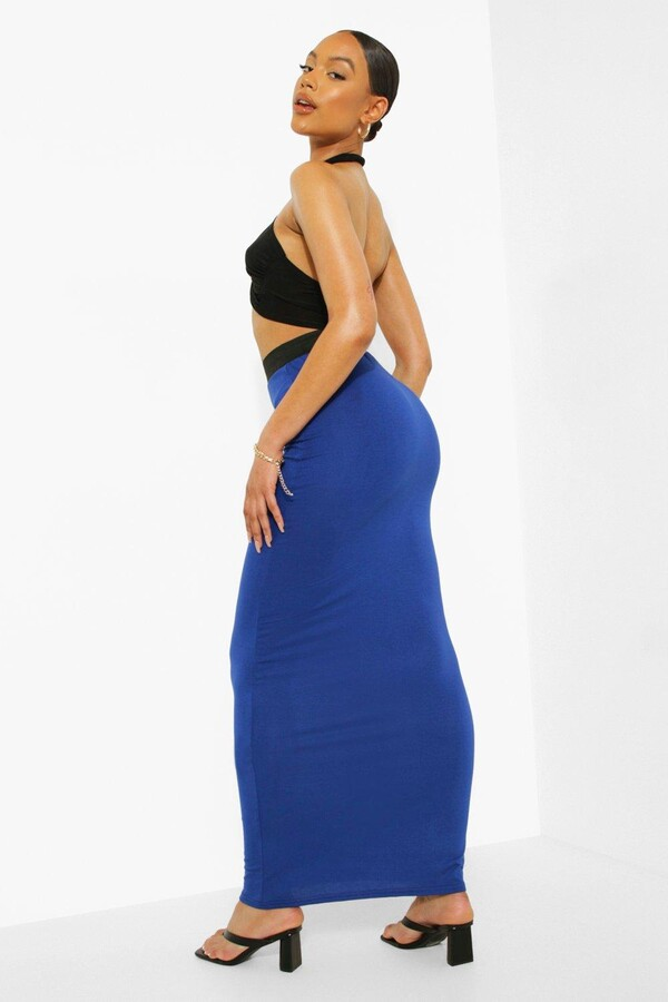 Thumbnail for your product : boohoo Contrast Waist Jersey Maxi Skirt