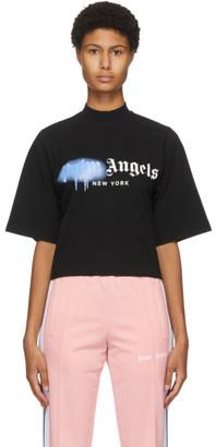 Palm Angels Black New York Sprayed Logo T-Shirt