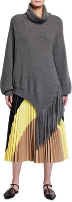 Stella McCartney Cashmere Asymmetric Fringed Sweater