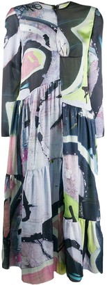 Marques Almeida Abstract-Print Dress