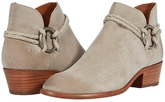 Frye Carson Braided Harness (Milkshake Oiled Suede/Soft Pebbled Leather) Women's Boots