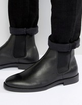 Selected Marc Chelsea Boot In Black Leather