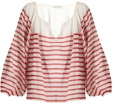 Mes Demoiselles Matthew striped cotton-gauze blouse
