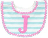 Mud Pie Baby-Girls Newborn J Girl Initial Bib, Pink, One Size by Mud Pie Baby