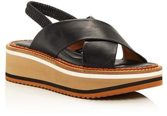 Clergerie Women's Freedom Criss-Cross Platform Slingback Sandals