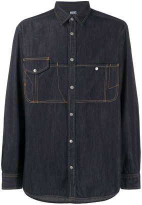 Diesel Buttoned Long-Sleeved Shirt