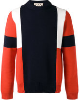 Marni colour block knitted jumper - men - Cotton - 46