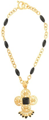 Chanel Pre Owned 1995 Cut-Out Fringed Long Necklace