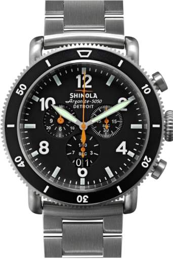 Shinola 'The Black Blizzard' Chronograph Interchangeable Strap Watch, 48mm