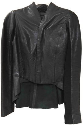 Veda Black Leather Leather Jacket for Women