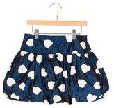 MonnaLisa Girls' Heart-Appliqué Satin Skirt