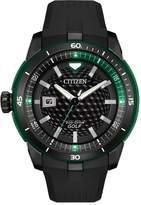 Citizen Men's Eco-Drive Golf Black Rubber Strap Watch