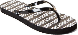 Juicy Couture Black & White Fae Flip Flops