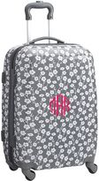 Hard-Sided Carry On Quad Spinner, 22&quot, Grey Ditsy Floral