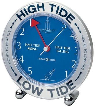 Howard Miller Tide Mate III Modern, Transitional, Nautical, Coastal Mantel Clock with Revolving World Map, Reloj del Estante