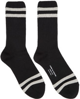 Comme des Garcons Black Rib Stripes Socks