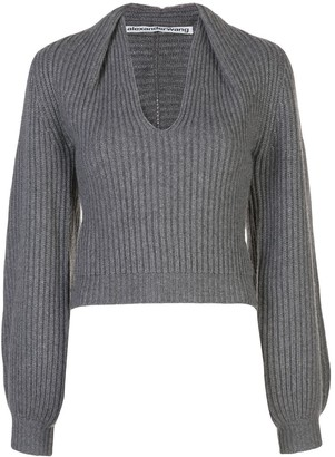 Alexander Wang Draped Neck Jumper