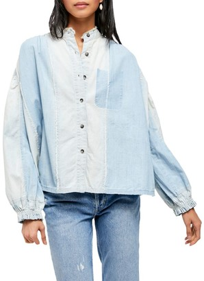 Free People Set Sail Denim Top