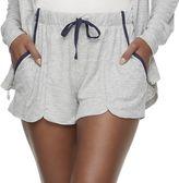 Bliss Women's Butterknit Separates Rib Pocket Shorts