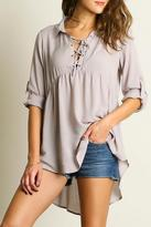 Umgee USA Lace Up Tunic