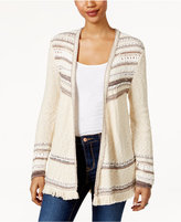 Style&Co. Style & Co Striped Fringe Cardigan, Only at Macy's