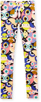 Fendi Stretch Jersey Monster Leggings, Multicolor, Size 6-8