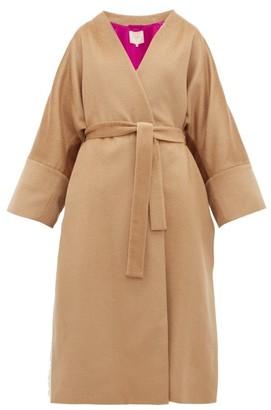 Roksanda Larisa Belted Wool-blend Coat - Camel