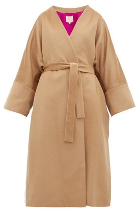 Roksanda Larisa Belted Wool-blend Coat - Womens - Camel