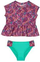 Hula Star Toddler Girl's Paisley Dream Two-Piece Rashguard Swimsuit