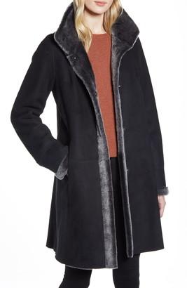 HiSO Reversible Genuine Shearling Coat