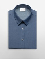 Calvin Klein X Fit Ultra Slim Fit Blue Chambray Dress Shirt