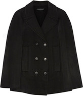 Theory Kapalin wool and cashmere-blend cape