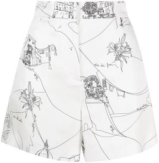 Emilio Pucci Scorci Fiorentini-print shorts