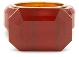 Bottega Veneta Faceted Jasper Gold-plated Ring - Womens - Red