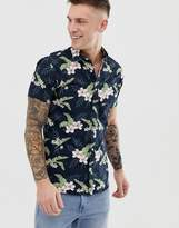 Jack & Jones Essentials floral printed short sleeve shirt