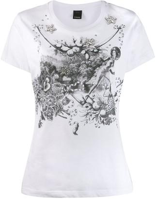 Pinko crystal embellished T-shirt